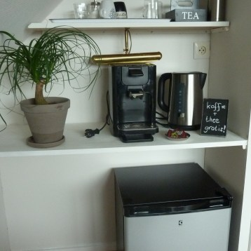 koffie, thee, koelkastje